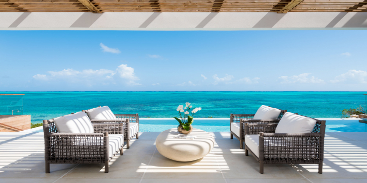 Ultra-luxury 4 bedroom, beachfront villa with heated infinity edge swimming pool and gorgeous views!