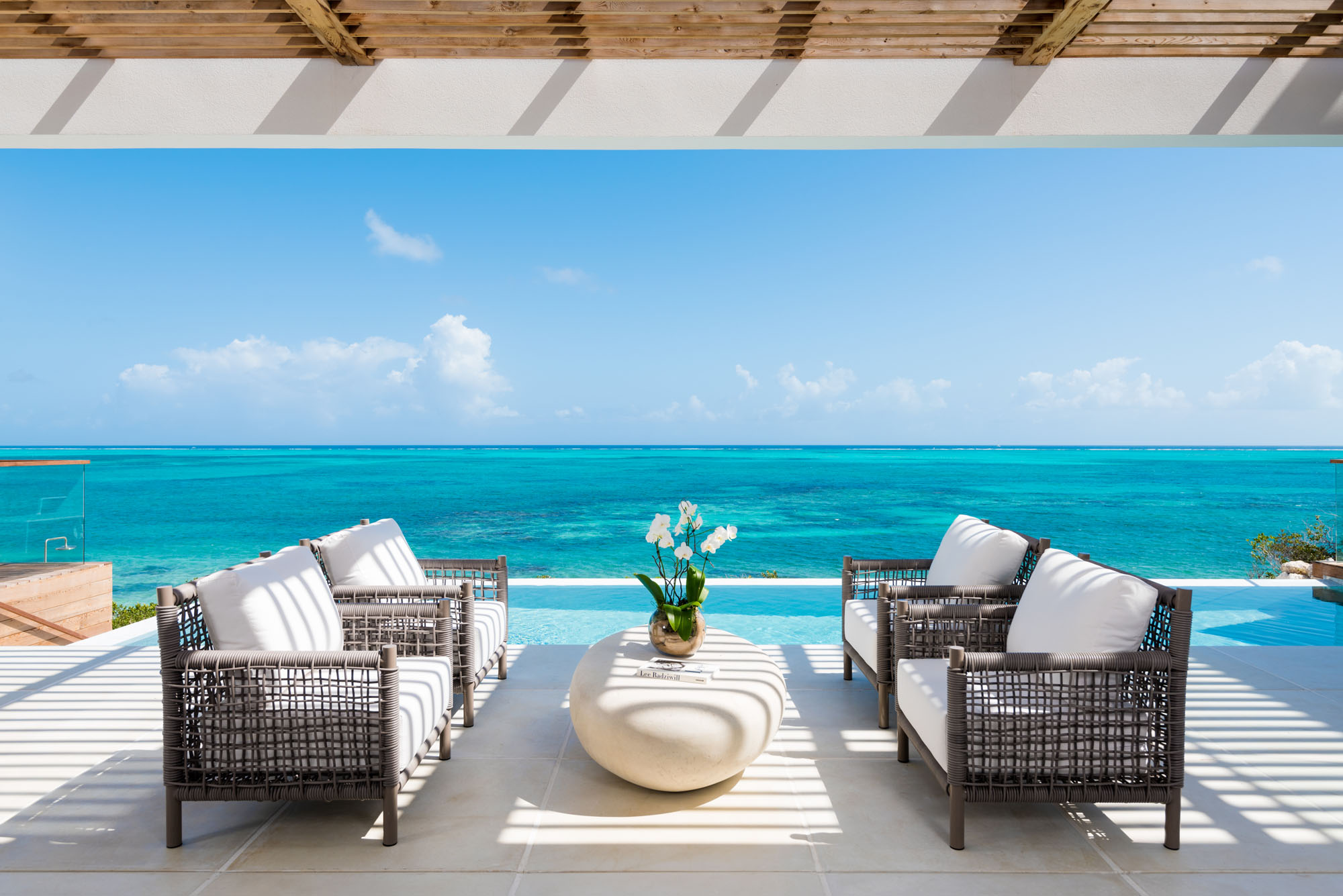 These Turks and Caicos luxury beach villa rentals are available with 4 or 5 bedroom configurations.