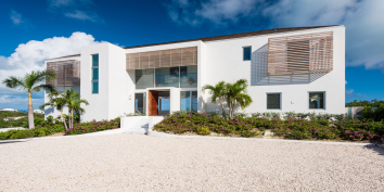 The contemporary architecture of Beach Enclave North Shore, Providenciales, Turks and Caicos Islands.