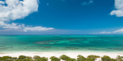 Stunning views of the North Shore of Providenciales (Provo), Turks an Caics Islands from Beach Enclave North Shore.