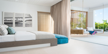 All of the four bedrooms have ocean views at Beach Enclave North Shore Villa 9, Turks and Caicos Islands.