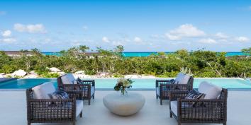 Beach Enclave North Shore Villa 9 has numerous outdoor areas for relaxing.
