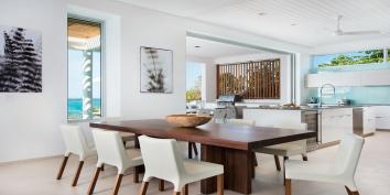 Contemporary luxury throughout at Beach Enclave North Shore Villa 1, Turks and Caicos Islands.