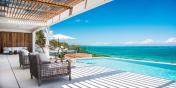 This Turks and Caicos ultra-luxurious villa rental enjoys fantastic ocean views.