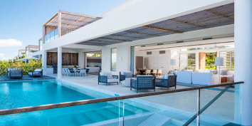 Contemporary, beachfront architecture at its best, Beach Enclave North Shore, Providenciales.