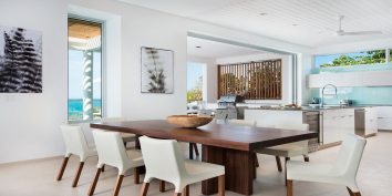 Contemporary luxury throughout at Beach Enclave North Shore Villa 2, Providenciales, Turks and Caicos Islands.