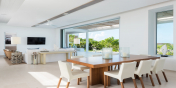 Seamless indoor and outdoor living at Beach Enclave North Shore Villa 8, Providenciales, Turks and Caicos Islands.