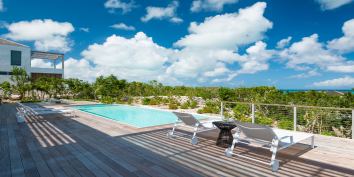 Beach Enclave North Shore Villa 8 has a heated, infinity edge swimming pool.