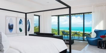 This Turks and Caicos luxury villa rental has a total of 7 bedrooms and sleeps up to 16 guests comfortably.