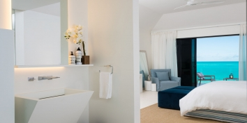 There are a total of 7 spacious bedrooms, all with ensuite bathrooms, at Triton Luxury Villa, Long Bay Beach, Providenciales (Provo), Turks and Caicos Islands, B.W.I.
