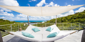 There are lots of places to relax at Azur Dream, Terres Basses, Saint Martin.