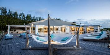 The spacious deck at Azur Dream, Terres Basses, Saint Martin.