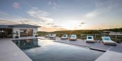 The large swimming pool at Azur Dream, Terres Basses, Saint Martin.