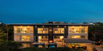 Stunning by day or night, Villa Bella Vita, Babalua Beach, Providenciales (Provo), Turks and Caicos Islands.
