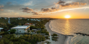 You can experience beautiful sunsets from Villa Bella Vita, Babalua Beach, Providenciales (Provo), Turks and Caicos Islands.