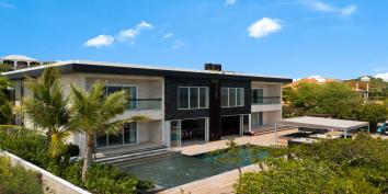 A very contemporary villa, Villa Bella Vita, Babalua Beach, Providenciales (Provo), Turks and Caicos Islands.