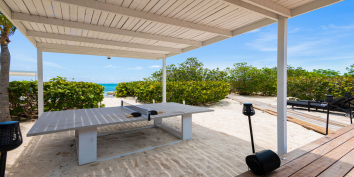 There is a table tennis (ping pong) table at Villa Bella Vita, Babalua Beach, Providenciales (Provo), Turks and Caicos Islands.
