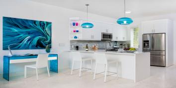 Villa Bari is furnished with some designer highlights.