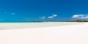 The unbelievably white sand of Taylor Bay Beach, Providenciales.