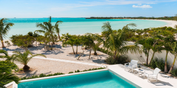 Villa Bari has a private plunge pool right on Taylor Bay Beach.