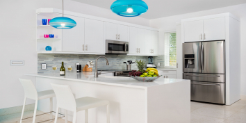 The kitchen is equipped with everything you may need during your vacation in the Turks and Caicos Islands.