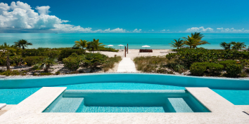 Turks and Caicos Villa Rentals - Beach Villa Shambhala, Long Bay Beach, Providenciales (Provo), Turks and Caicos Islands.