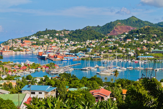 Beautiful St. George's harbour, Grenada, Caribbean.