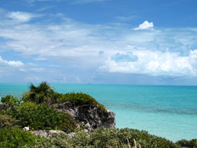 The stunning ocean views from Three Dolphins Villa, Long Bay Beach, Providenciales (Provo), Turks and Caicos Islands