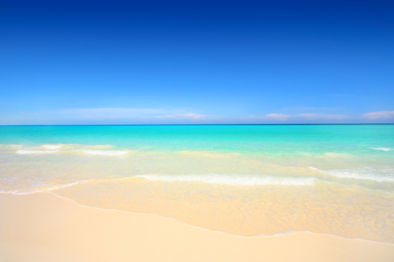 One of the best beaches in the world, Grace Bay Beach on the island of Providenciales (Provo) in the Turks and Caicos Islands, Caribbean.