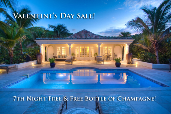 Valentine's Day Sale - 7th Night Free & Free Bottle of Champagne.