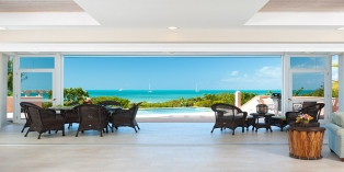 Turks and Caicos Villa Rentals By Owner - Villa Blue Heaven, Sapodilla Bay Beach, Providenciales (Provo), Turks and Caicos Islands.